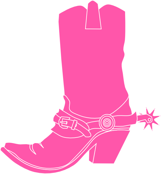 pink boot clip at clker vector clip