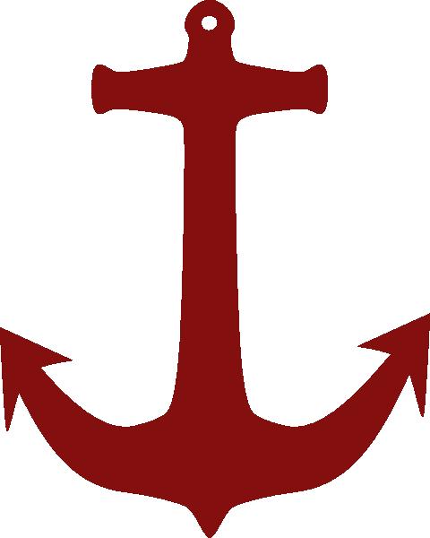 Big Red Anchor Clip Art At Clker Com Vector Clip Art