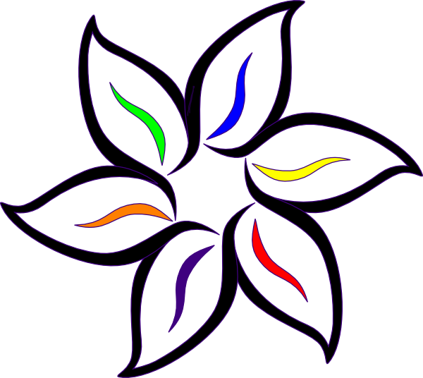 flower clip art color - photo #24