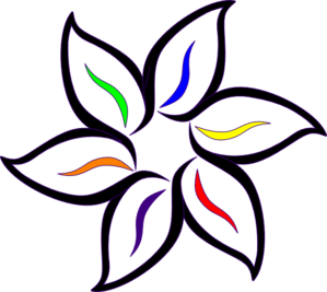 Multi Color Flower Clip Art