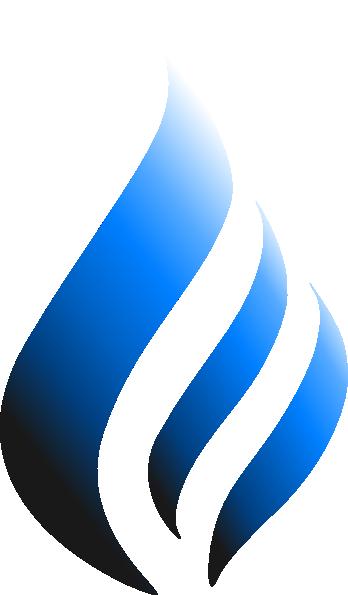 blue logo flame style clip art at clker com vector clip art online