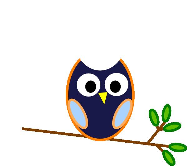Blue Owl Clip Art At Clker Com Vector Clip Art Online Royalty
