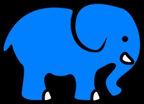 Blue Elephant Clip Art at Clker.com - vector clip art ...