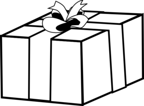 transparent gift outline clip art at clker com vector clip art
