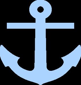 Baby Blue Anchor Clip Art