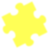 Yellow Blurred Puzzle Piece Clip Art