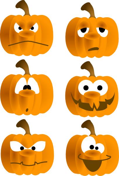 Pumpkin Faces Clip Art At Clker Com Vector Clip Art