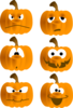Pumpkin Faces Clip Art