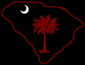 Carolina Logo With Garnet Palm Tree Clip Art