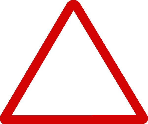 thin red triangular sign clip art at clkercom vector