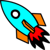 Rocket Colorful Clip Art