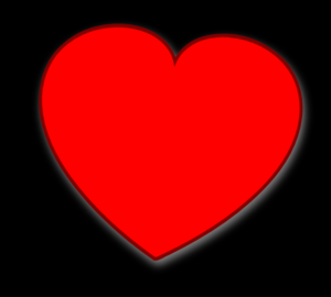 Heart On Black Clip Art