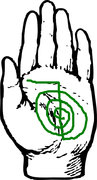 healing hand with reiki symbol clip art at clkercom
