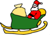 Santa Of Cart Clip Art
