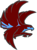 Falcon Maroon And Blue Clip Art