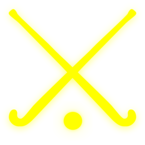 Gold Field Hockey Sticks Clip Art