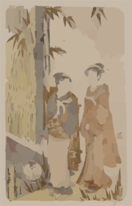 Geisha From Fukagawa Clip Art