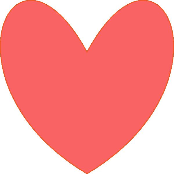 coral heart clip art at clker com vector clip art online royalty rh clker com corral clip art coral clipart images