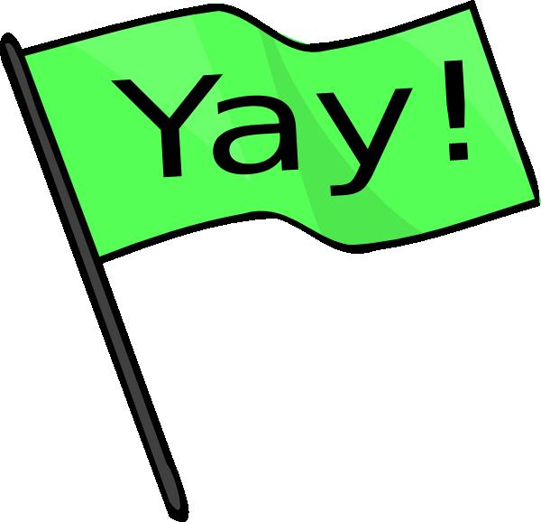 yay green flag clip art at clker com vector clip art online rh clker com yay clipart gif clipart yay its friday
