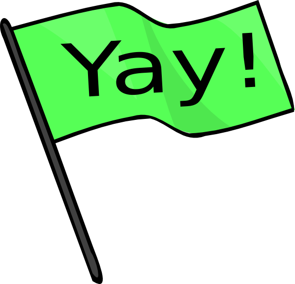 yay green flag clip art at clker com vector clip art online rh clker com friyay clipart yay clipart gif