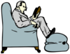 Man Reading Clip Art