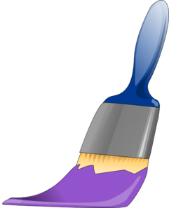 Paintbrush Purple Clip Art