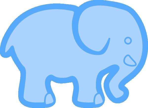 baby blue elephant clip art at clkercom vector clip art