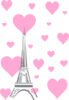 Hearts Eiffel Tower Clip Art