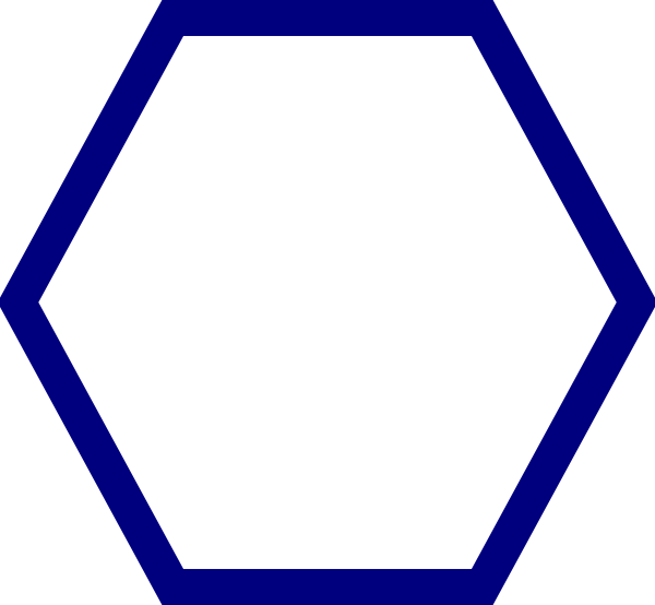 Blue Hexagon Clip Art at Clker.com - vector clip art online, royalty ...