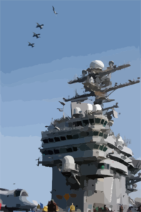 A Division Of F/a-18c Hornets Assigned To Carrier Air Wing Seven (cvw-7), Fly Into The Break Over Uss George Washington (cvn 73) As They Prepare For Landing. Clip Art