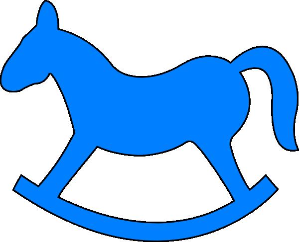 blue rocking horse clip art at clker com vector clip art online rh clker com rocking horse clipart free christmas rocking horse clipart