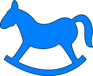 Blue Rocking Horse Clip Art At Clker Com Vector Clip Art
