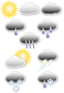 Weather Symbols Clip Art