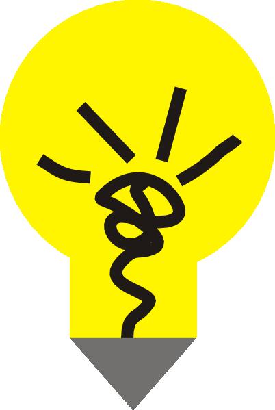 Yellow Lightbulb Clip Art At Clker Com Vector Clip Art