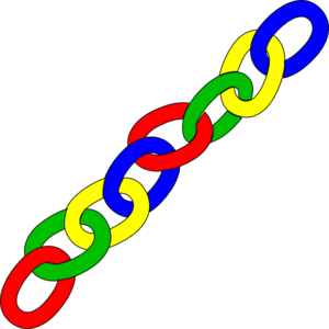 Color Chain Links - Long Clip Art