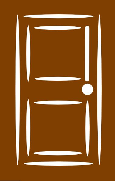 Brown Door Clip Art At Clker Com Vector Clip Art Online