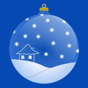 Blue Winter Ornament Ball Clip Art