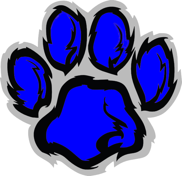 Tiger at Paw Clip  vector Blue clip art Art - Clker.com