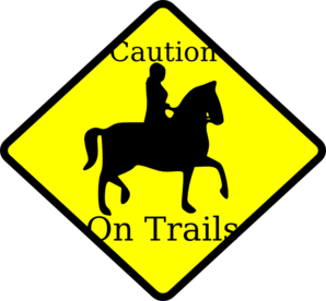 Caution Horse On Trails Clip Art