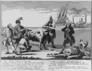 The State Of English Nation, In T Jaar 1778 Clip Art