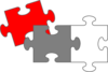 Red Puzzle Pieces Clip Art