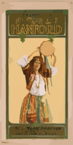Miss Marie Drofnah As Mariatana In Don Caesar De Bazan Clip Art