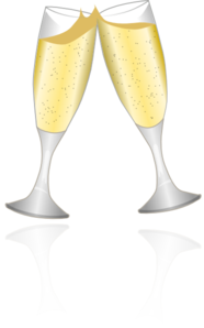 Champagne Glasses 2 Clip Art