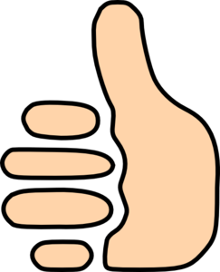 Thumbs Up Symbol Clip Art