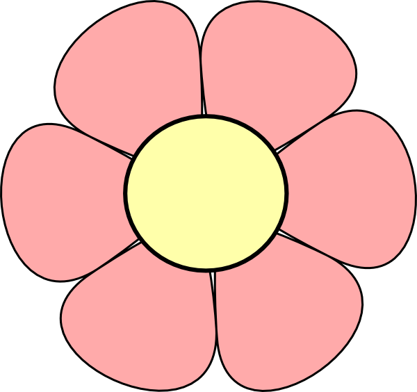 Pink Flower Clip Art At Clker.com