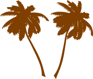 Brown Palm Trees  Clip Art