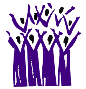 Choir In Purple Clip Art