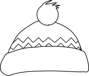 Winter Hat Outline Clip Art at Clker.com - vector clip art online ...