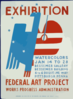 Exhibition [of] Watercolors Clip Art