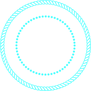 Blue Rope Circle Frame Clip Art